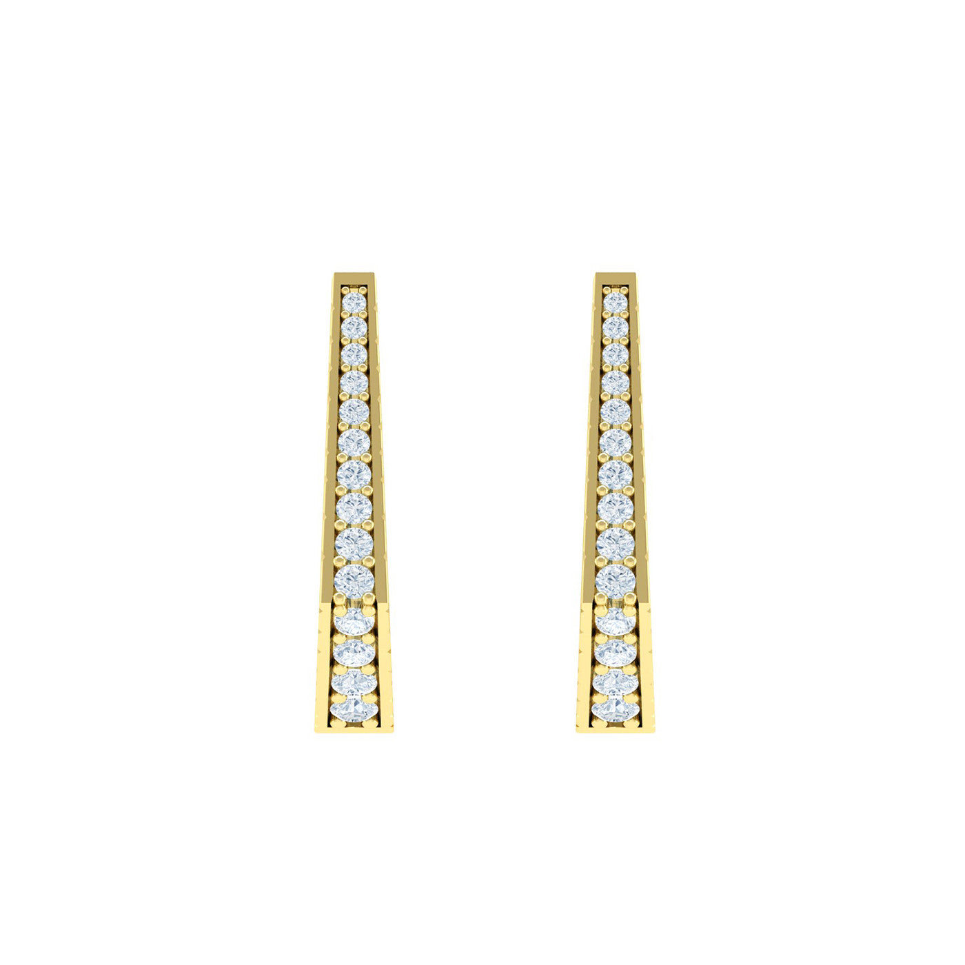 Diamond 18kt Gold Hoop Earrings