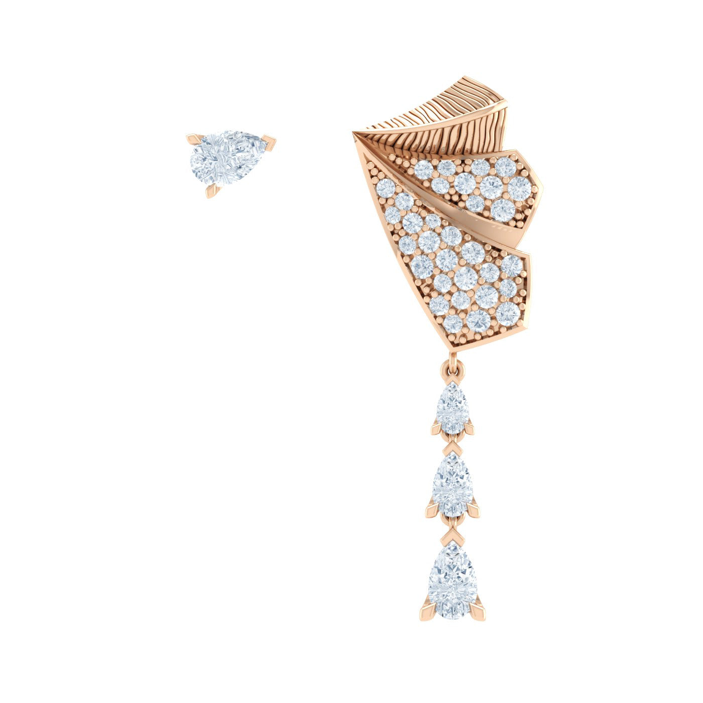 Diamond Earrings in 18kt Gold