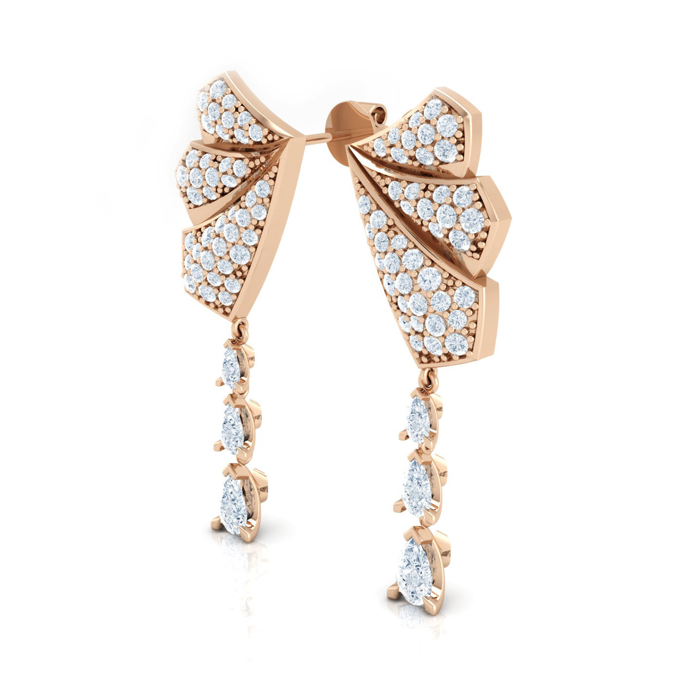 18kt Gold Diamond Drop Earrings