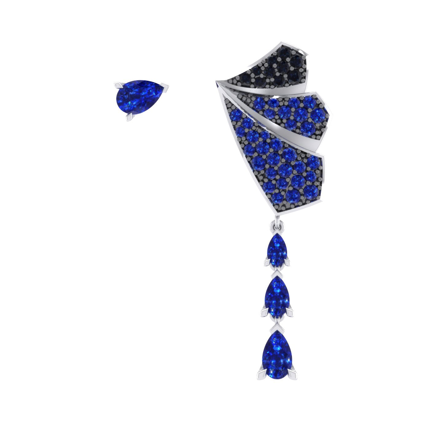 Sapphire Gold Earring by Alice Herald