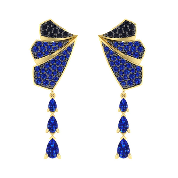 Sapphire Drop Earrings in 18kt Gold