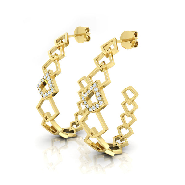 Diamond and 18kt Gold Earrings