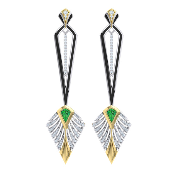Diamond Couture Earring in 18kt gold