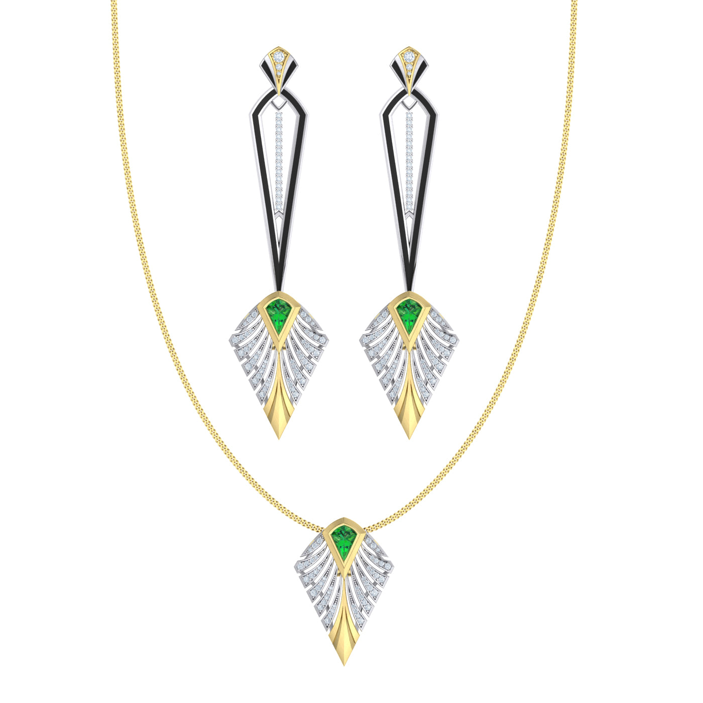 Diamond Couture Jewellery Set in 18kt gold