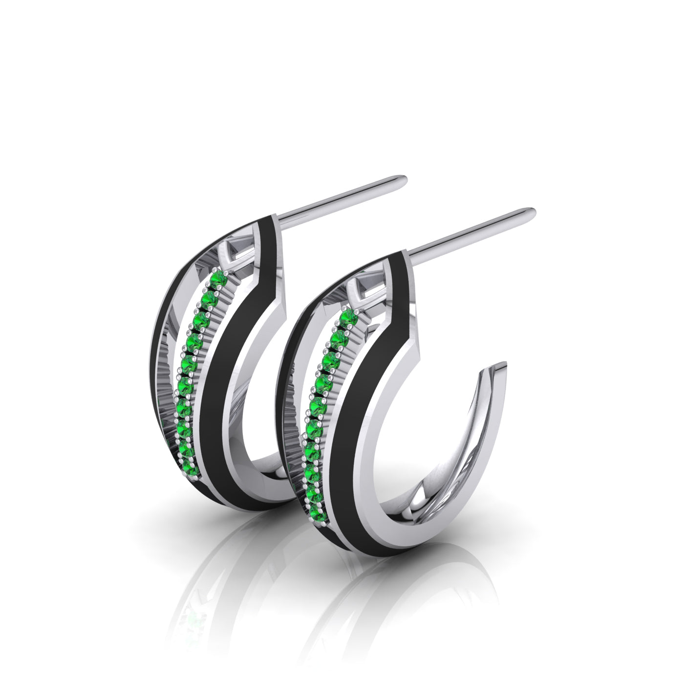 Diamond Hoop Earrings by Herald Diamond Couture