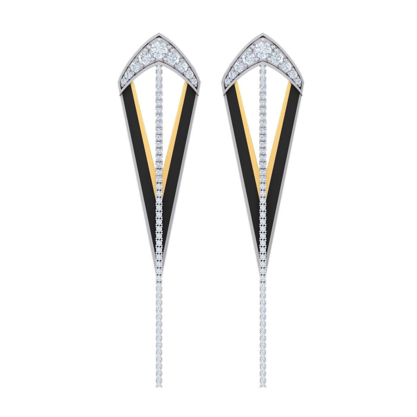 Diamond earrings by Herald Diamond Couture