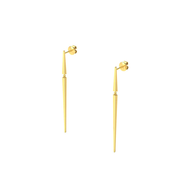 Shaft Earring in 18kt Gold from Herald Diamond Couture