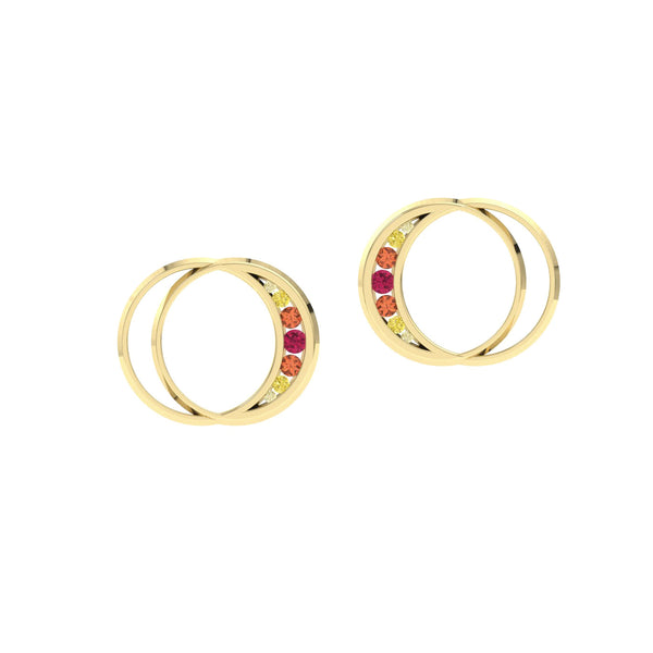 Eclipse Earrings in Yellow Gold by Herald Diamond Couture