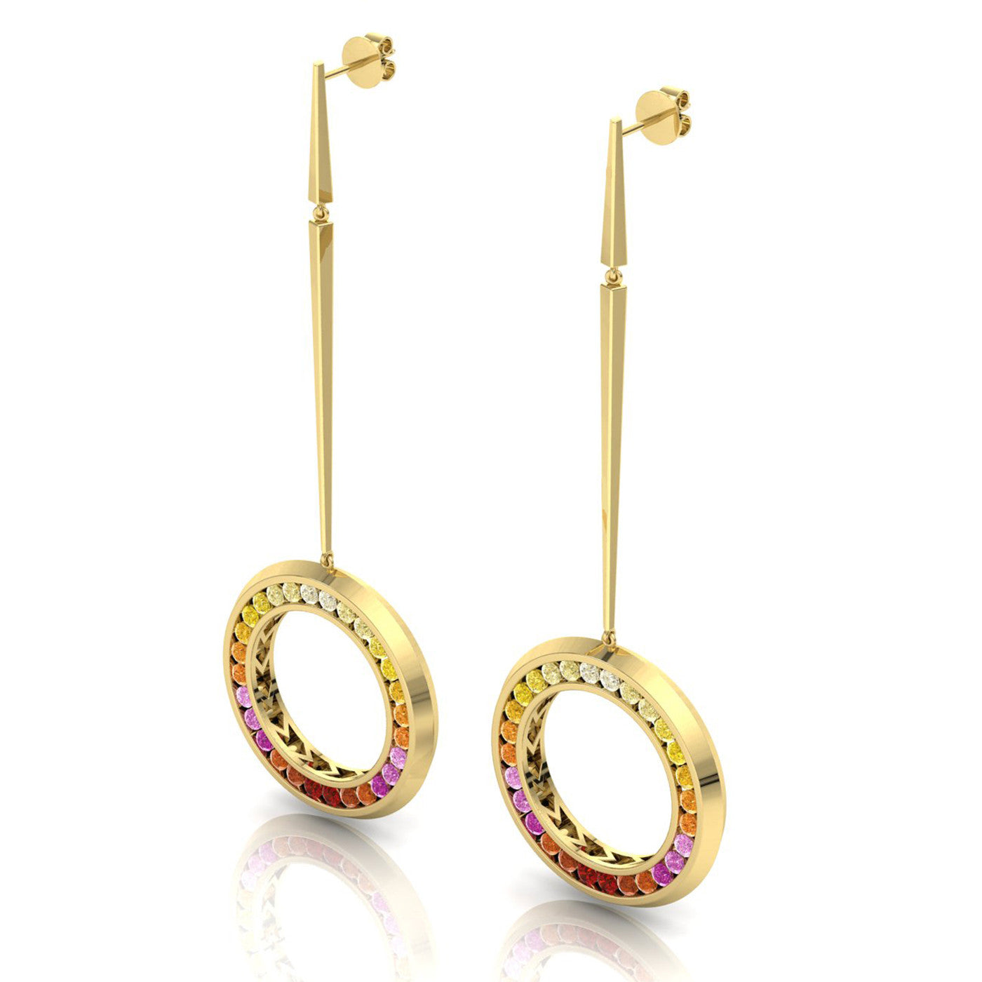 Herald Sunset Drop Earrings in 18kt yellow gold