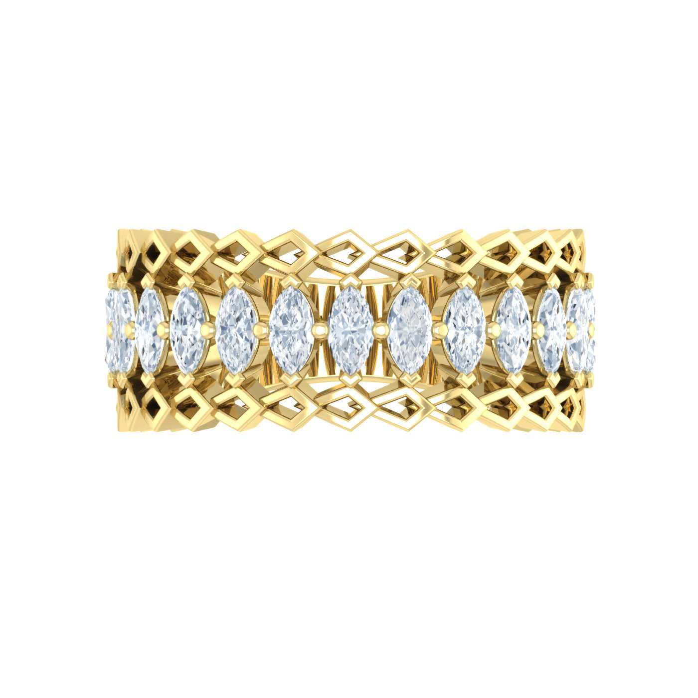 Diamond Eternity Ring in 18kt Yellow Gold