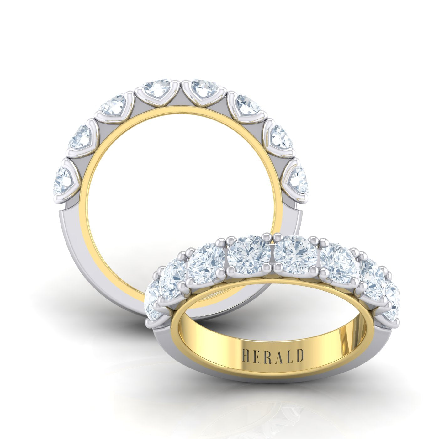 Herald diamond eternity ring in 18kt gold
