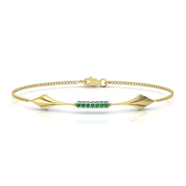 gold and tsavorite bracelet