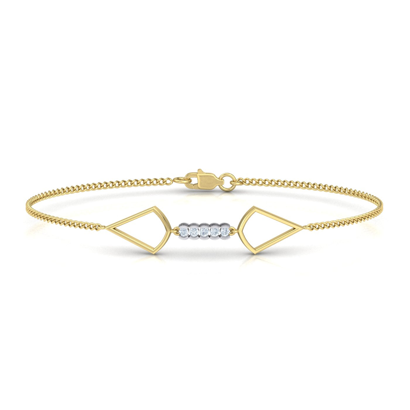 Gold Diamond Bracelet from Alice Herald