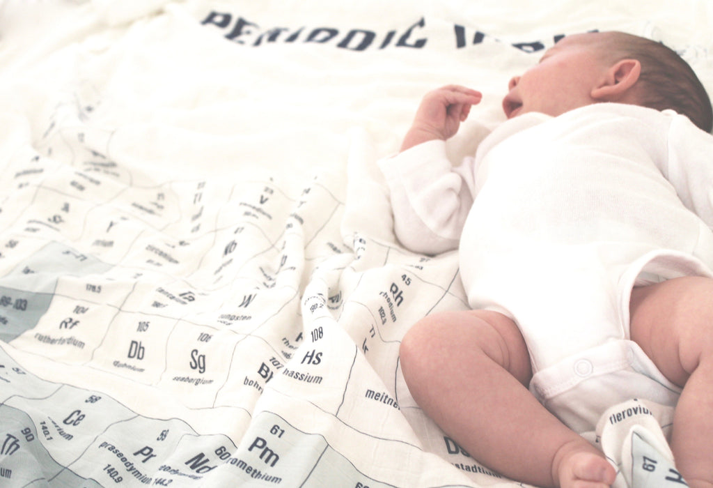 Periodic Table Of Elements Muslin Swaddle Blanket Cooper Place
