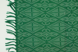 Green and White Table Runner - Woven Crafts