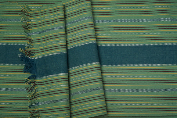 Yellow Green Cotton Fabric - Woven Crafts