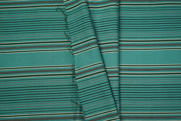Blue Green Cotton Fabric - Woven Crafts