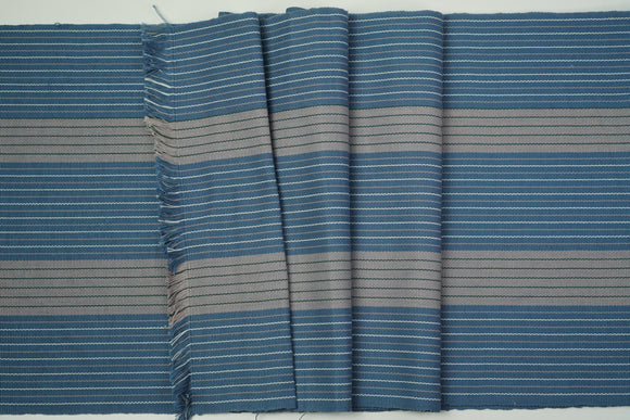 Blue Gray Cotton Fabric - Woven Crafts