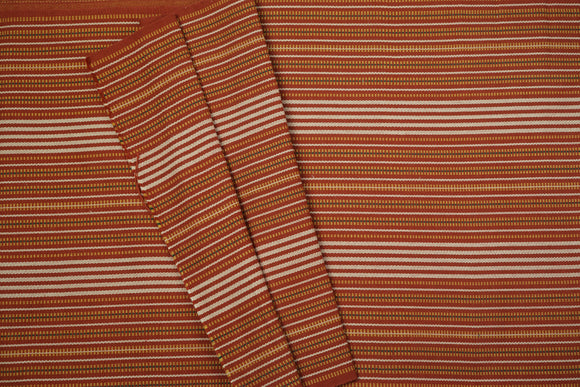 Terracotta Cotton Fabric - Woven Crafts