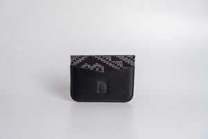 Benguet (Black) Leather Card Holder - Woven Crafts