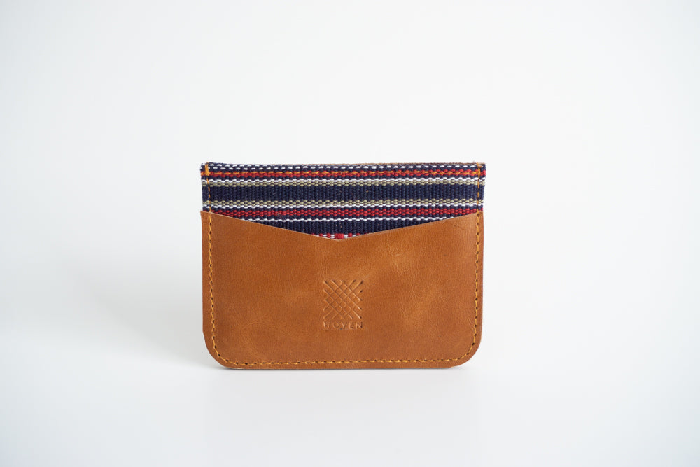 Kalinga Leather Card Holder - Woven Crafts