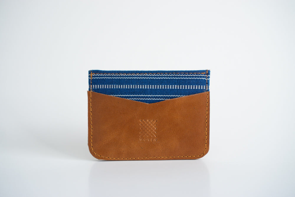 Banaue Leather Card Holder - Woven Crafts
