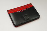 Kalinga (Red) Leather Card Holder - Woven Crafts