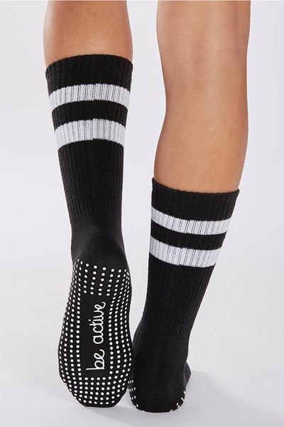 Be Active Crew Grip Socks