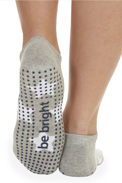 Sticky Be Socks Be Bright Grip Socks - Heather Grey/White - Sculptique