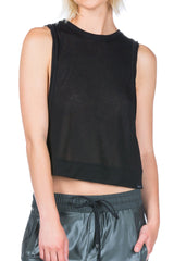 Koral CUT CROP TOP - BLACK - Sculptique