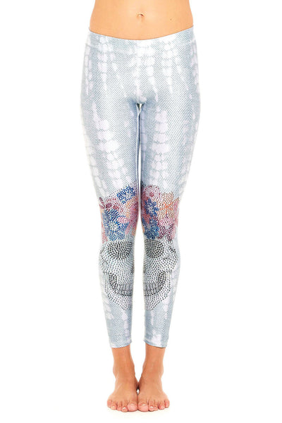 Flower Crown Crystal Skull Legging