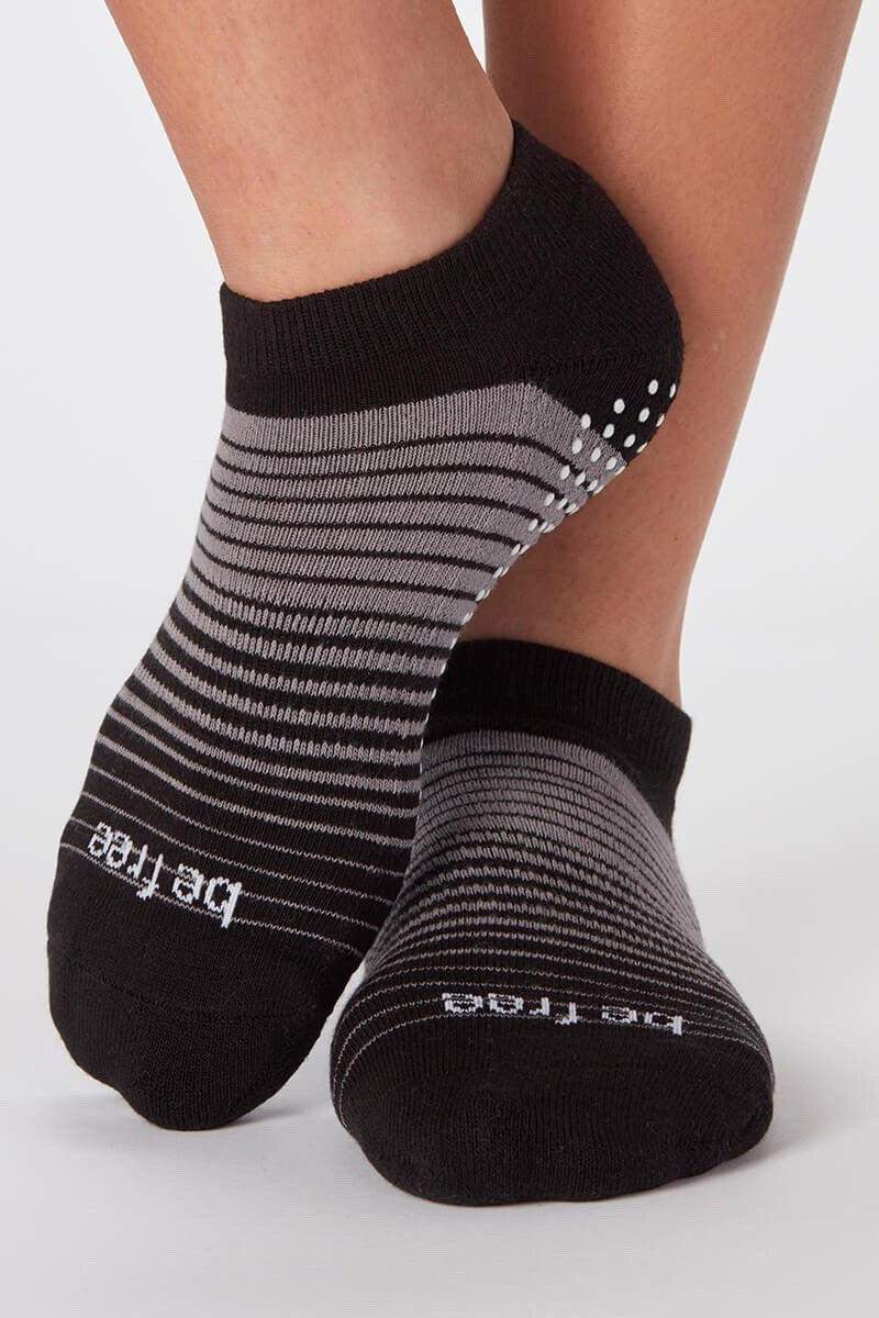 Sticky Be Socks Be Free Hudson Pinstripe Grip Socks - Sculptique