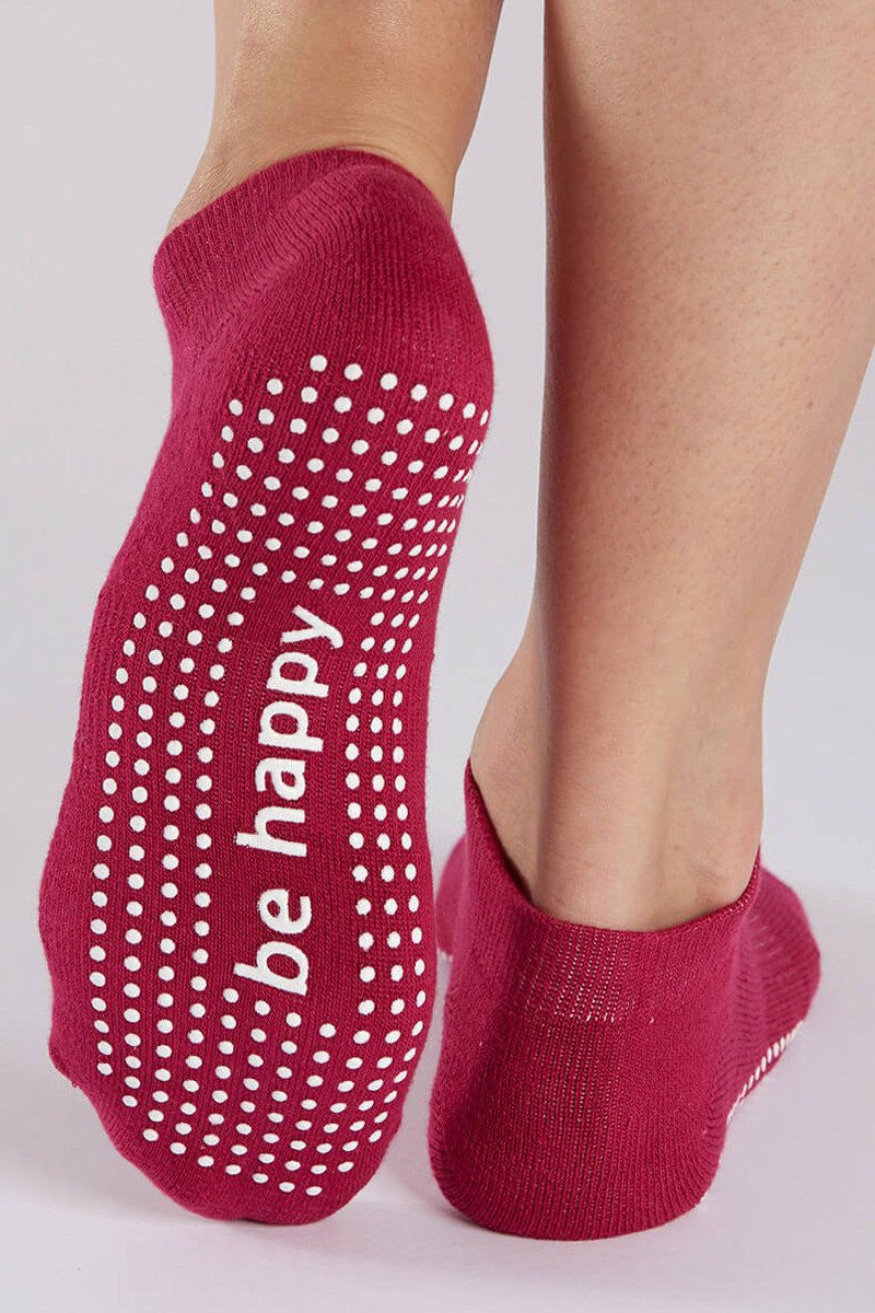 Sticky Be Socks Be Happy Grip Socks - Sculptique