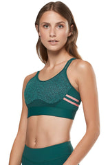 Livvy Sports Bra - Deep Teal