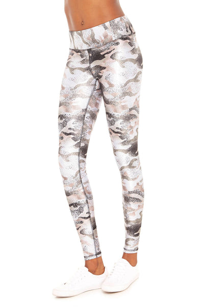 Metallic Neutral Camo Tall Band Legging