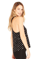 Silver Mickey and Minnie Polka Dot Tank
