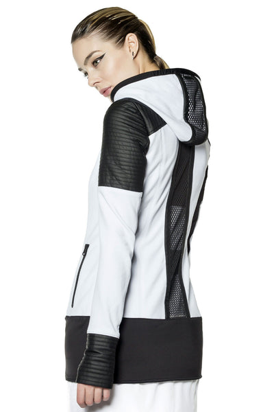 Blanc Noir Nighthawk Hoodie - White/Black - Sculptique