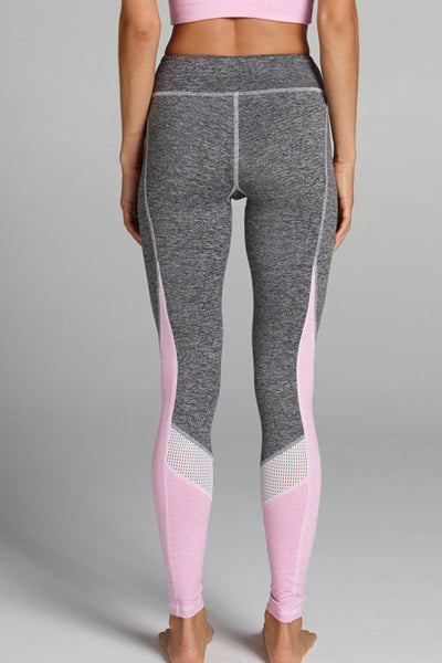 Chichi Active Tatiana Legging - Heather Grey/Bubblegum - Sculptique