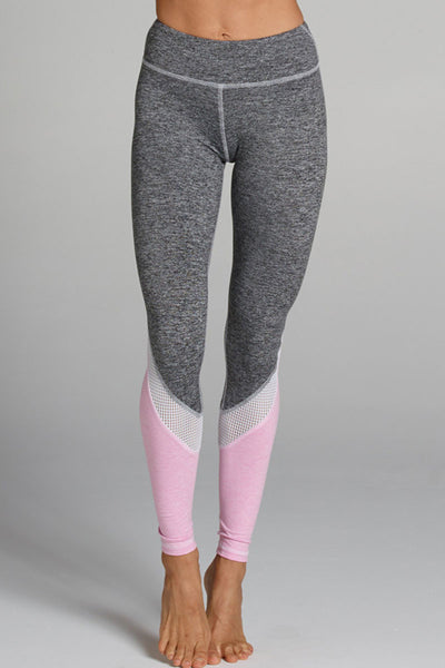 Tatiana Legging - Heather Grey/Bubblegum