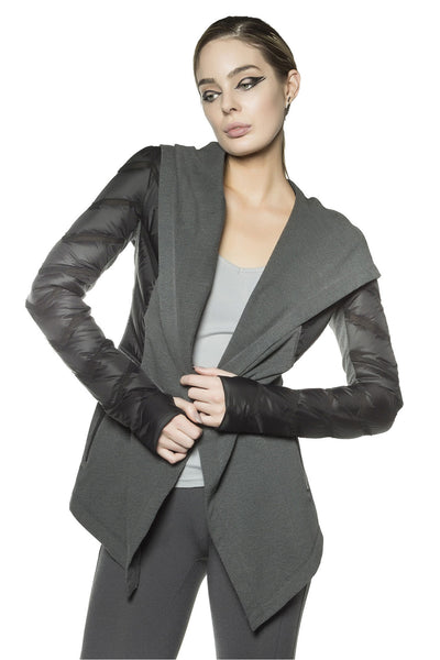 Wrap Hooded Coat