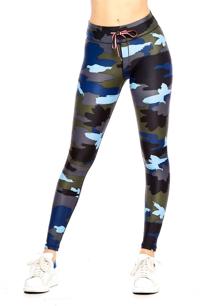 Abstract Camo Yoga Pant