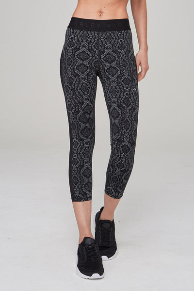 Alden Cropped Tight - Midnight Python
