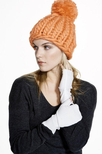 Vimmia Alpine Puff-Ball Hat - Orange - Sculptique