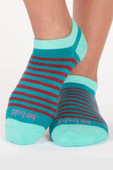 Sticky Be Socks Be Bold Andie Stripe Grip Socks - Sculptique