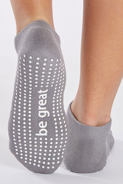 Be Great Grip Socks - Dark Grey/White