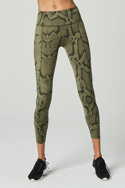 Bedford Tight in Olive Snake