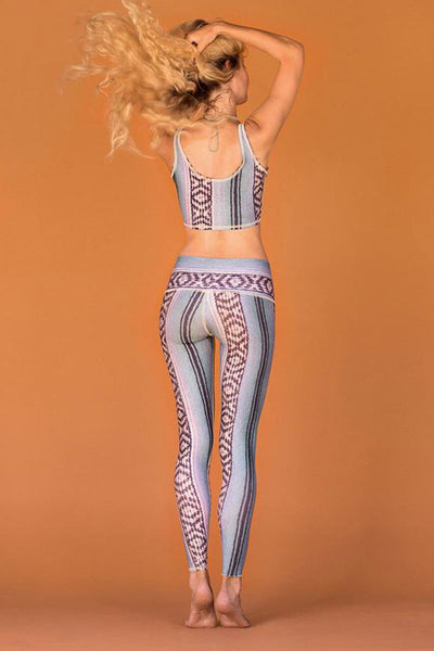 Teeki Border Towns Blue Hot Pant - Sculptique