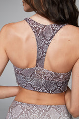 Varley Brighton Sports Bra - Taupe Snake - Sculptique
