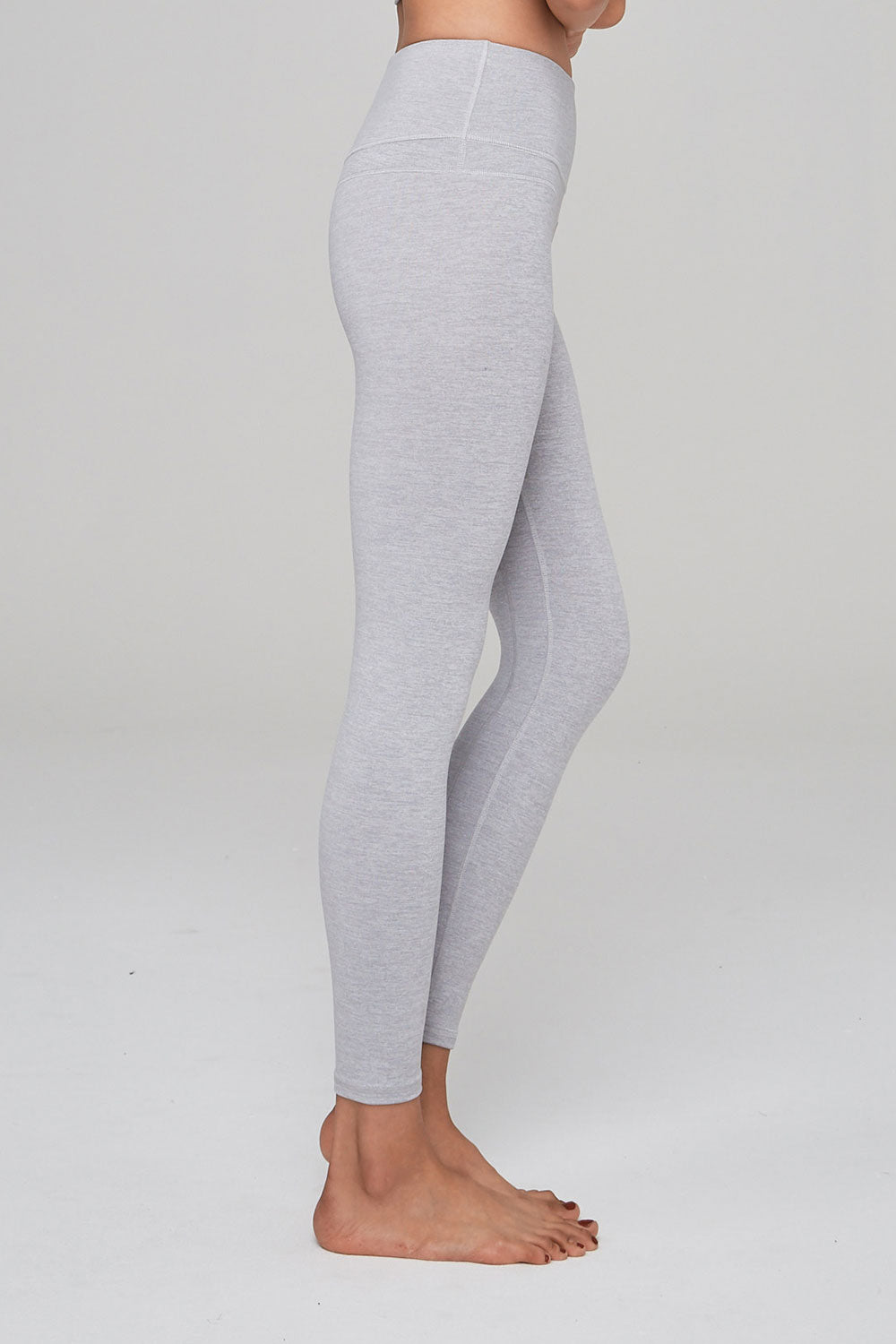 Varley Camdon Cropped Tight - Heather Ash - Sculptique