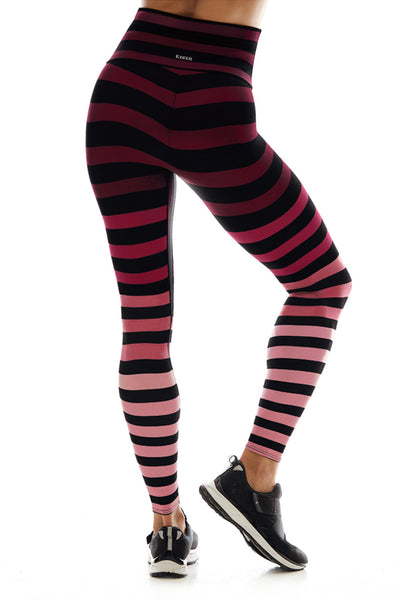 K-Deer Cathy Stripe Sneaker Legging - Sculptique